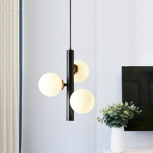 İskandinav kolye ışık Yemek odası 3 Işık G9 Led Avize Mat Metal kolye lamba Avize Luster Luminarias Lamba Lamba Askıya Asılı