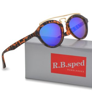 새로운 선글라스 남자 여자 클럽 라운드 빈티지 해 안경 브랜드 디자이너 Gafas 운전 안경 uv400 렌즈 가죽 caes 및 상자