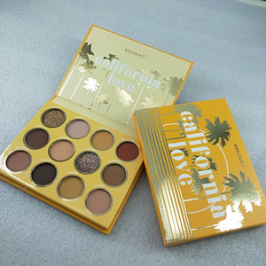 Drop shipping Colourpop California Love Palette 12 couleurs de maquillage de couleur orange citrouille EYESHADOW palette Livraison gratuite.