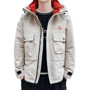 Anbican Moda 2019 Abrigo de invierno para hombre Parka chaqueta con capucha cazadora de invierno capa de los hombres caliente