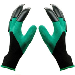 Jardín Genie guantes guantes impermeables con garras para cavar plantación mejores regalos de jardinería para las mujeres de los hombres de color verde
