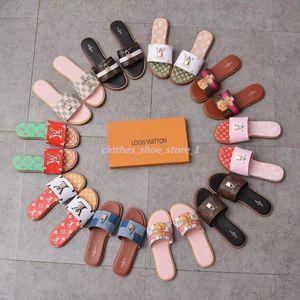 Paris Luxury Designer Scuffs Womens Slipper Summer Sandals Beach Slide Slippers Girls Flip Flops Loafers Vintage Embroidered Floral xshfbcl