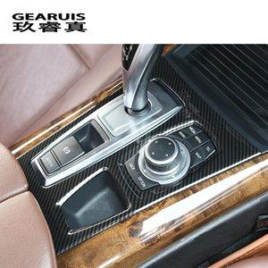 자동차 스타일링 멀티미디어 Handrest 기어 패널 프레임 스티커 장식 기어는 BMW X5 E70 인테리어 자동차 액세서리 트림 커버
