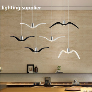 Nordic einfache Möwe Lampe moderne Restaurant Balkon Kronleuchter LED kreative Persönlichkeit Vogel Kronleuchter Schlafzimmer Lampe Harz Vogel Kronleuchter