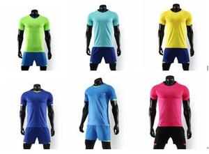 Atacado Mens em branco juventude Camisas de Futebol Criar Uniformes de Equipe de Futebol Conjuntos de Treinamento Unidos Em Branco Design Personalizar DIY