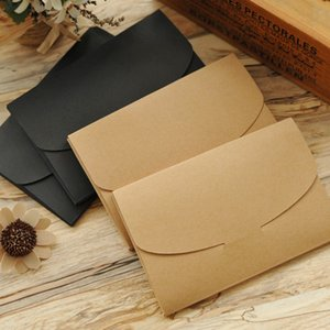 ome & Garden 10Pcs Brown Black Silk scarf gift paper box kraft paper envelope bag postcard packing box photo invitation card packaging bo...