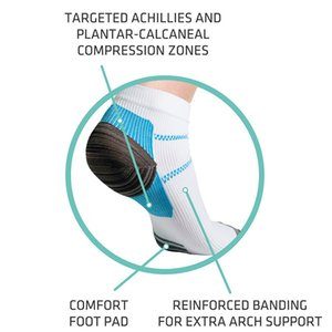 Nefes Sıkıştırma Ayak bileği Çorap Anti-Yorgunluk Plantar Fasiit Topuk Erkekler Ve Kadınlar İçin Çorap Running Spurs Ağrı Kısa Çorap