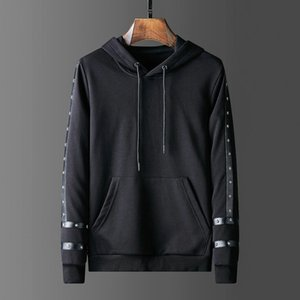 Metal tasarım yıldızı Erkek Hoodies hiphop Erkek Tasarımcı Kapüşonlular Ceket Erkekler Kadınlar Yüksek Kalite Casual Tişörtü Siyah Renkler Boyut M-3XL