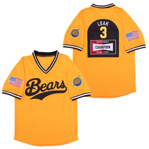 Die Bad News Bears Movie-Jersey 12 Tanner Boyle 3 Kelly Leak 11 Amanda Whurlitzer Film-Baseball-Shirts Weiß Gelb Schwarz