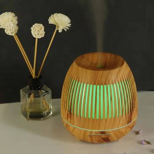 Humidifier Hollow-out Purifier Luminescent Colorful Wood Grain Mini Air Purifier Aroma Machine
