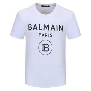 여름 스트리트 착용 T 셔츠 남성 명품 브랜드 t- 셔츠 스웨터 남성 여성 캐주얼 티 셔츠 패션 크루 넥 코튼 티셔츠 M # 발 메인-4XL 인쇄하기