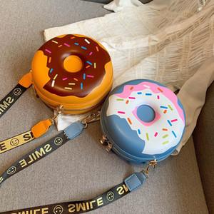 Harajuku Round Hamburgere Frauen Schultertasche Designer Brief Breites Trageriemen Female Crossbody Beutel Kunststoff Leder Kleiner Sommer Purse CJ191224