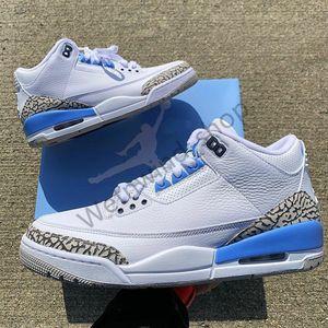 2020 3s 3 Knicks Rivals III Jumpman JSP 3M TINKER SP BLACK CEMENT UNC Blue PE Mocha Mens casual Shoes Sneakers