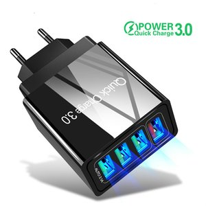 Carga 3.0 Charger 4 USB 2.0 rápida USB Port Fast Charging Para carregadores 4.0 3.0 Travel Recados iPhone 11 QC Para Samsung S9