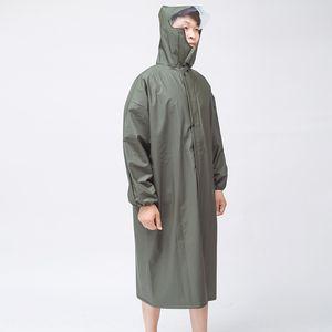 kgzVZ Ordu yeşil Cloak Ordu yeşil Cloak vücut elbise WINDBREAKER vücut elbise uzun windbreake örme panço tulum açık yürüyüş örme