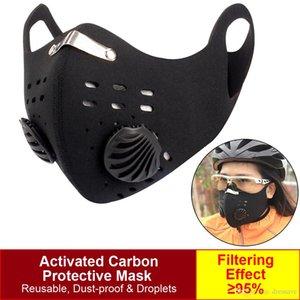Radfahren Schutzgesichtsmasken mit Aktivkohle PM2.5 Anti-Pollution Staub Sport Running Training Rennrad wiederverwendbare Masken FY9038