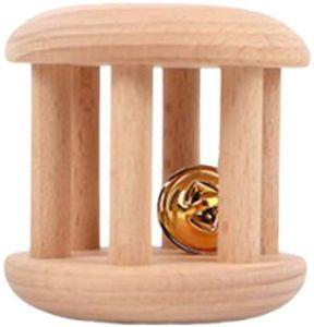 Деревянные Teether Rattle Игрушки Монтессори Прорезыватель игрушки Деревянные Захватывающие Зубные Интерактивная игрушка для новорожденных Infant новорожденных