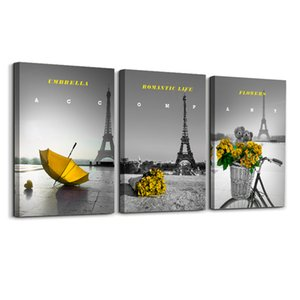 Abstract Painting The Eiffel Tower Painting By Landscape Modern Wall Art Painting For Living Room Decoration