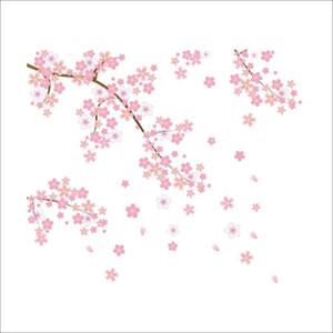 L'autoadesivo rosa della parete della prugna per la parete del fondo del sofà dei bambini del salone decora