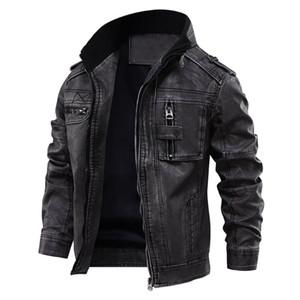 Homem de couro Casual casaco quente Arrefecer Moto Motorcycle Outerwears Dropshipping