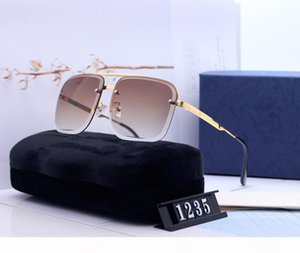 Luxury Men and Women Brand Sunglasses 280 Fashion Oval glasses UV Protection Lens Coating Mirror Lens Frameless Color Plated Frame With Case