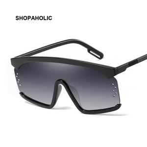 Plastic Goggle Oversized Women Sunglasses Square Brand Designer Big Frame Sunglasses For Female Feminino