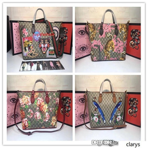 Large Gg Blooms Reversible Pink Rose Multi Canvas Leather Tote For Women New 4 colors Fashion Bags size: 37*29*15cm