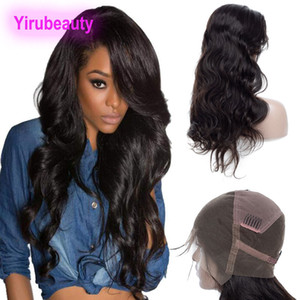 Perruque complète en dentelle de cheveux humains malaisiens 9A réglable avec bande pré-pincée perruques de vague de corps 8-34 pouces couleur naturelle pour cheveux longs