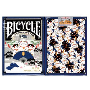 Bicycle Maneki Neko Playing Cards Blue Lucky Cat Deck USPCC Collectible Poker Magic Card Games Magic Tricks Props for Magician