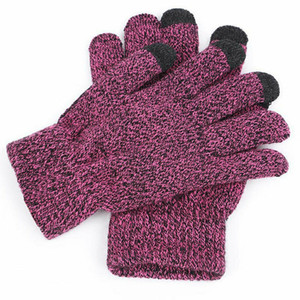 UK Ladies Men's Thick Knitted Woolly Gloves Winter Warm Thermal Gloves Mittens