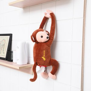 Portable Tissue Box Monkey Handkerchief Box For Home Office Auto Automobile Car Tissue Box Cover Napkin Paper Holders Cases
