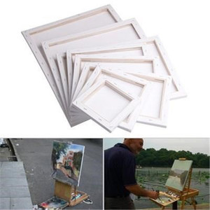 Branco em branco painéis quadrados de lona Artista Quadro placa de madeira por Primer Oil Pintura acrílica Pintura lona em branco painel 20x20cm
