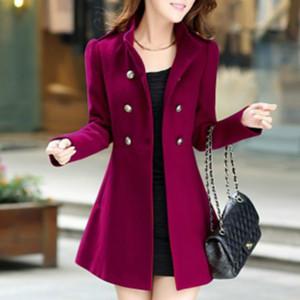 Xuxi 2019 casaco de lã, mulheres outono dames inverno casaco de caxemira casaco fino mulheres roupas femininas casaco senhoras casacos fz269