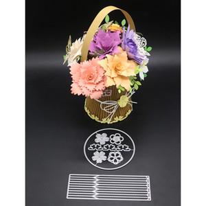 Metallo 3D Taglio Muore per Scrapbooking Cesto di fiori Stencil Goffratura Carte Carte Artigianato 2018 Nuovo modello Photo Decor