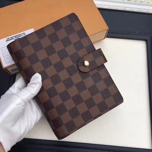 مصمم محفظة من الجلد 14 * 18CM الرجال والنساء دفتر حامل بطاقة الائتمان المحفظة الكلاسيكية قماش مضاد للماء