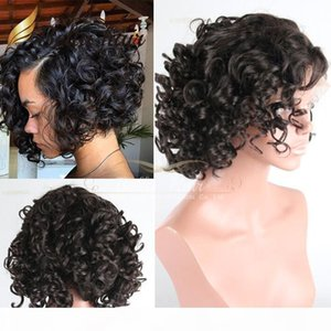 8A Short Bob Wig Lace Front Wigs For Black Women Curly Brazilian Human Hair Wigs Natural Color Swiss Lace Wig Bella Hair