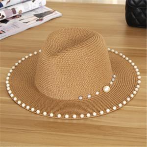 Женщины Модный Шляпа Peal Grass Braid Hat Открытый Солнцезащитный Крем Дышащие Шапки Роскошный Дизайнер Шляпа Леди Девушка Пляжные Шапки