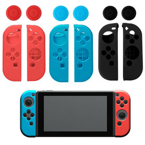 Soft Silicone Protective Skin Case+2 Thumbstick Grips Joystick Caps Cover For Nintend Switch NS Joy-Con Controller Shell r30