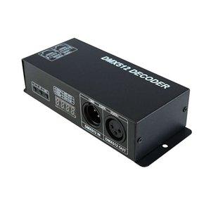 Dmx 512 Digital Display Decoder,Dimming Driver Dmx512 Controller For Led Rgbw Tape Strip Light Rj45 Connection Dc12-24V 20A (4 C