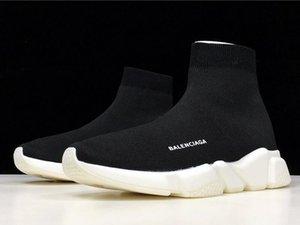 Good Quality Casual Shoes Fashion Men Women Brand Sock Boots Women New Slip-on Elastic Cloth Speed Trainer Men Designe Shoes Size EUR 36-46