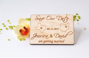 Personalized Wedding Destination Save the Date Magnets,Custom wood rustic MAP save the date,party favors gifts
