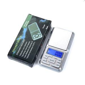 100g 200g x 0.01g 500g x 0.1G Digital Bilande Digital Mini Scale di gioielli di precisione La retroilluminazione Bilanciamento Peso Gram Electronic Pocket Bilancia DHL GRATIS DHL