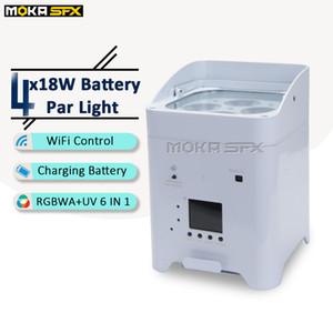 جديد 4 * 18W LED البطارية الخفيفة الاسمية 32 خيارات الألوان RGBWA / الأشعة فوق البنفسجية DMX ديسكو مصباح الخفيفة الاسمية في المرحلة إضاءة تأثير