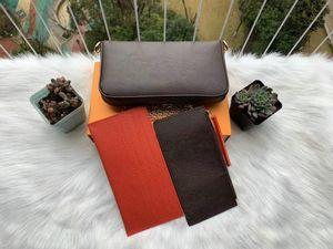 Neuesten Designer-Handtaschen Geldbörsen Taschen weisefrauenentwerfers Schultertasche Qualitätsmarkenbeutel dreiteilig Größe 21 * 11 * 2 cm Modell 61276