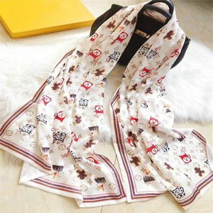 2020 designer shawl scarf best selling double silk scarf fashion spring and summer new printed scarf 180*65cm free shipping
