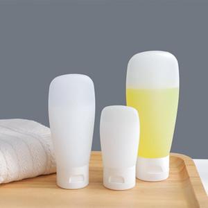 30ml / 60ml / 100ml leeren bereifte weiche nachfüllbare Plastik Lotion Tubes Squeeze-Schlag-Abdeckung Schlauch beweglicher Spielraum kosmetischer Behälter 10pcs