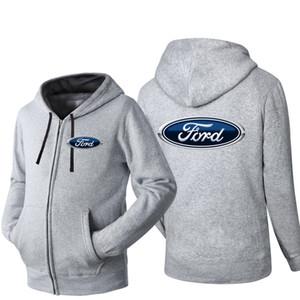 Yeni Ford Marka Otomobil Logo Kapşonlu Hırka Erkekler Fermuar İlkbahar Sonbahar Kapüşonlular Uzun Kollu Sweatshirt Erkek ceketler Eşofman Gündelik Giyim Giyim