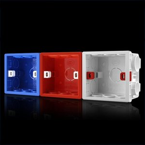 10 PCS Cassette PVC Flame Retardant Splicing Bottom Box Switch Socket Universal Box Random Color Delivery