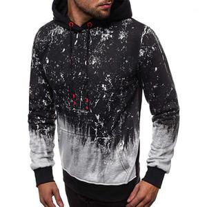 Vêtements pour hommes Designer pull avec capuche Hoddies manches longues Gradient couleur Homme Vêtements mode normal Longueur Casual
