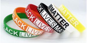 Black Lives Matter Wristbands Silicone Wrist Band Bracelets Letters Print Rubber Bangles Bracelets party favor LJJK2450